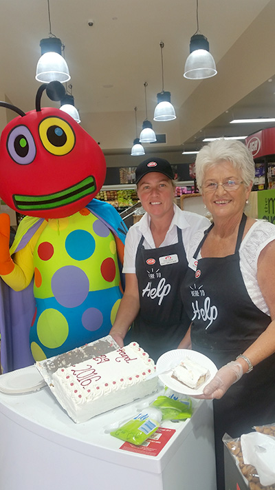 IGA EMPLOYEES: Colleen Ross and Betty Sinclair