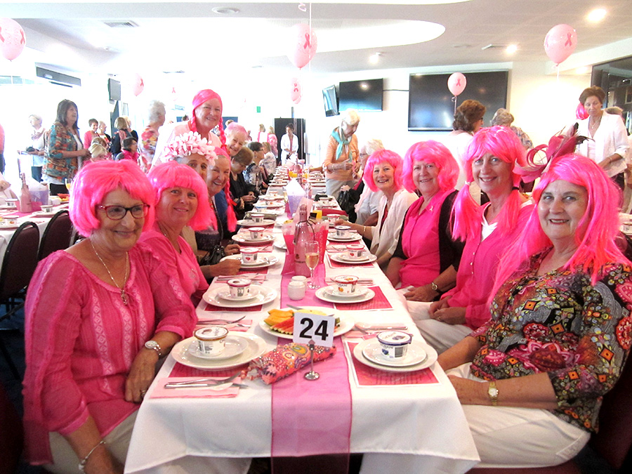 ": ""In The Pink"" a fundraising breakfast for the Tomaree Breast Cancer Support group held at Nelson Bay Bowling Club."