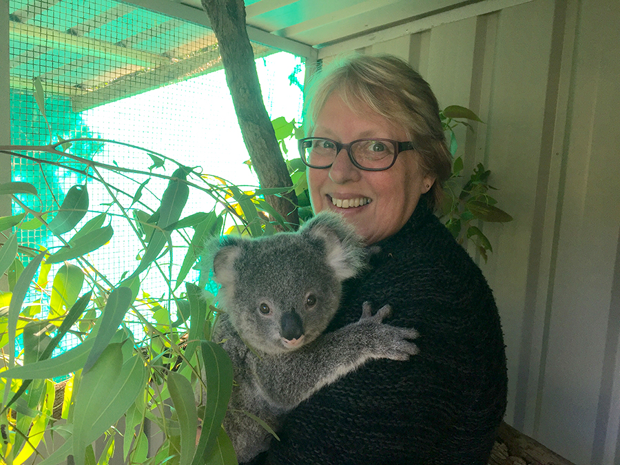 Carmel Northwood, Sammi's carer. Sammi was orphaned after his mother was run over by a car.