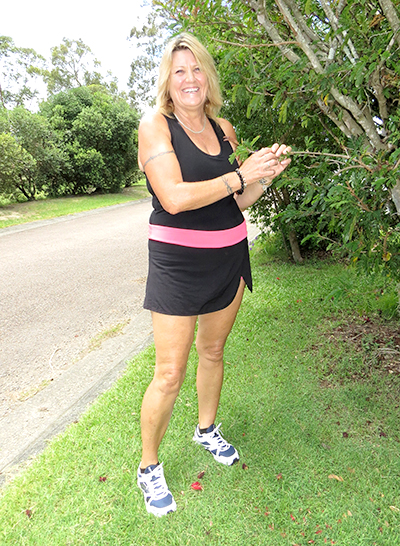NEW YEAR'S RESOLUTION: Robyn Lewis is feeling fit, healthy and happy.