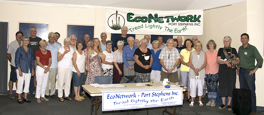 Attendees at EcoNetwork-Port Stephens forum discussing Mambo Wanda Wetlands. Photo by: Square Shoe Photography