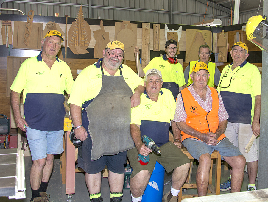 Some of the team at the Salamander Bay Men's Shed.