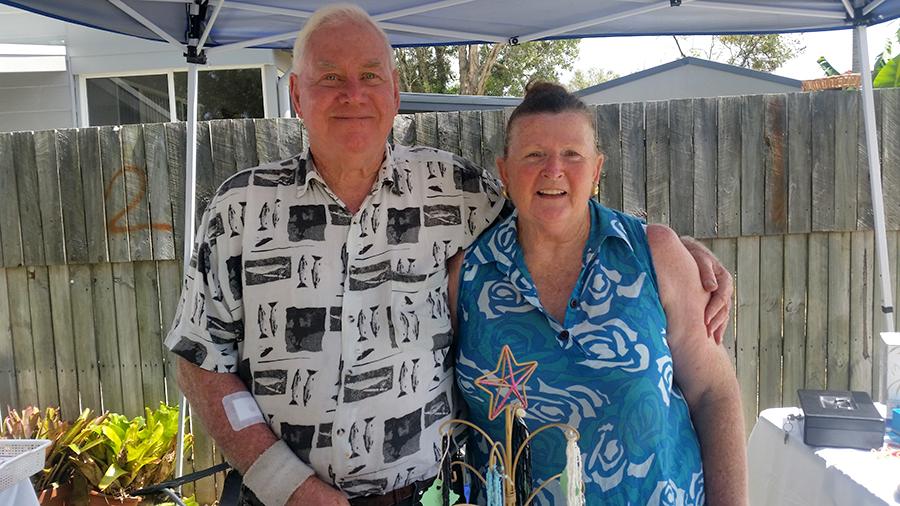 SEA CHANGE: Bill and Cheryl Roberts.