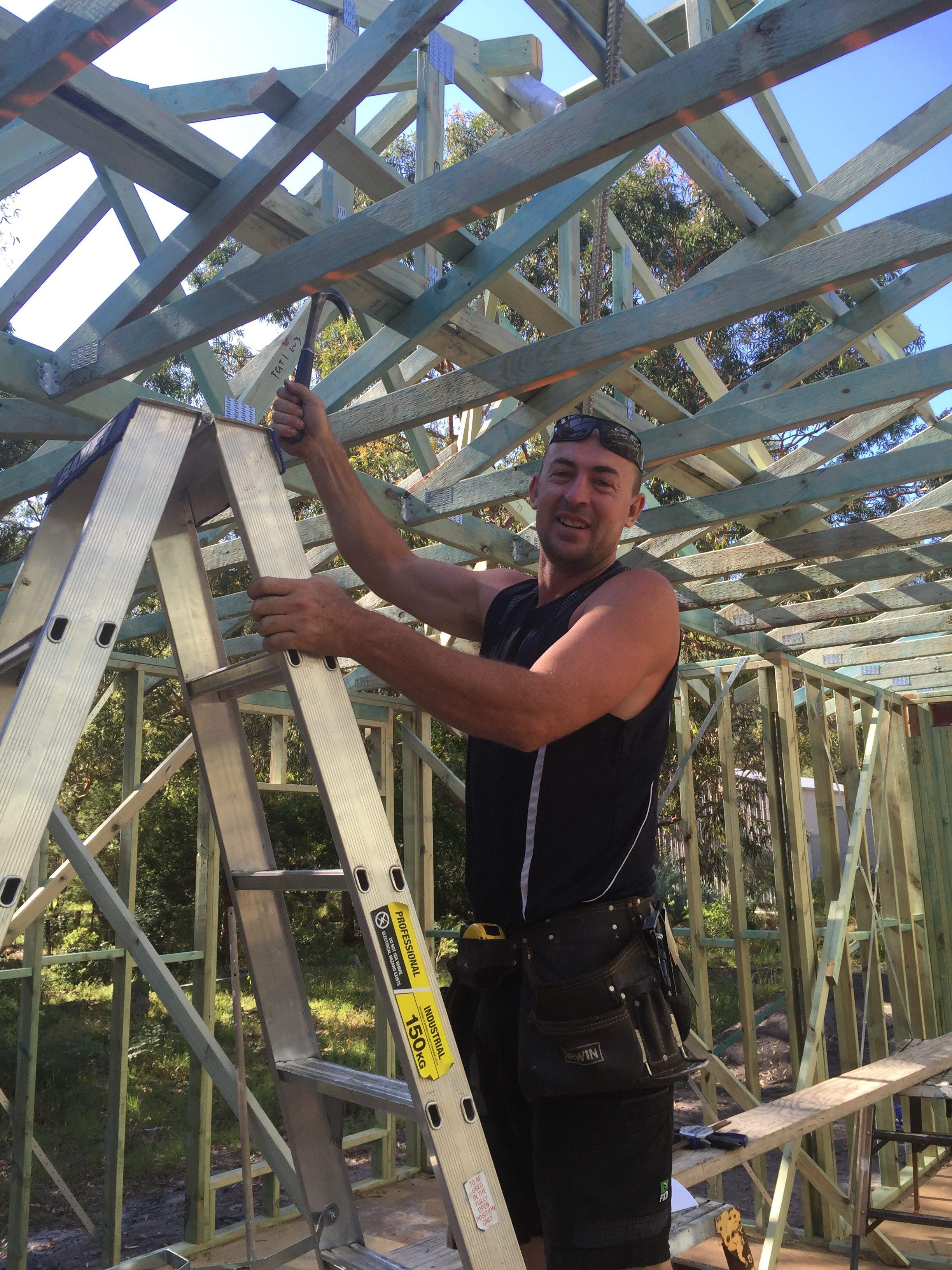 Anna Bay builder Todd O'Leary. Photo by Jo Finn