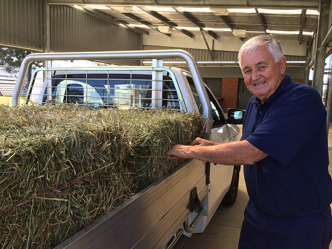Mr Peter Slade, Irrawang Farm Assistant for 31 years.
