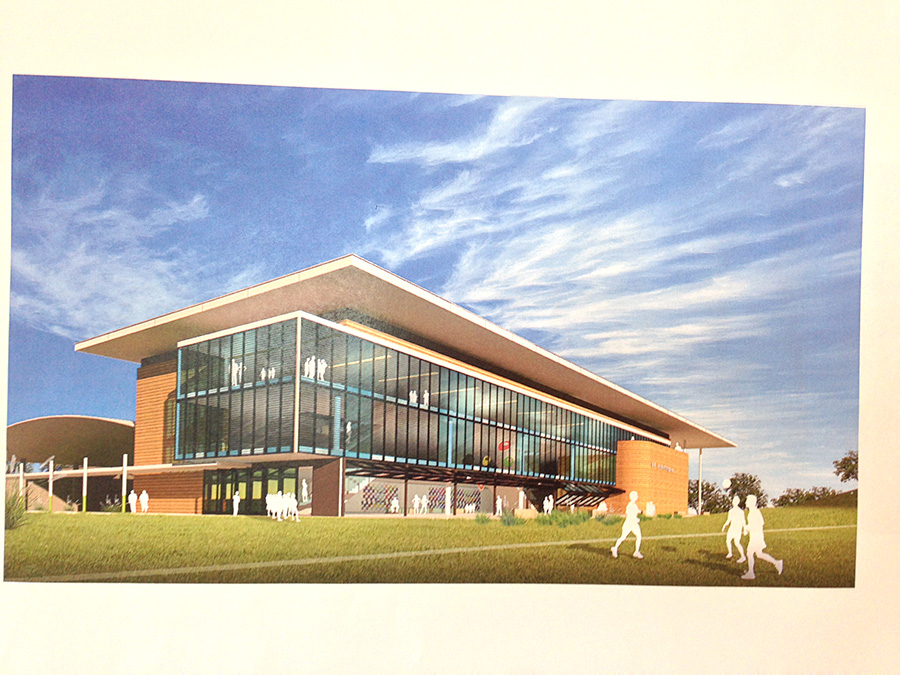 Building of the new state of the arts senior school building will commence in 2017.    Photo supplied