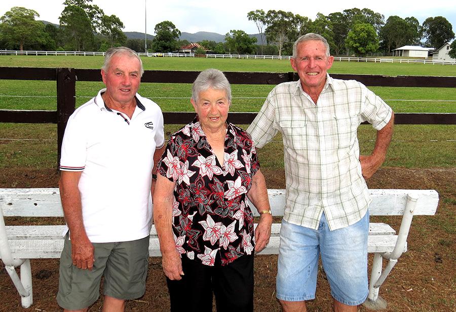 BULAHDELAH SHOW: President Gary Gooch with volunteers Irene Worth and Leo Turnbull.