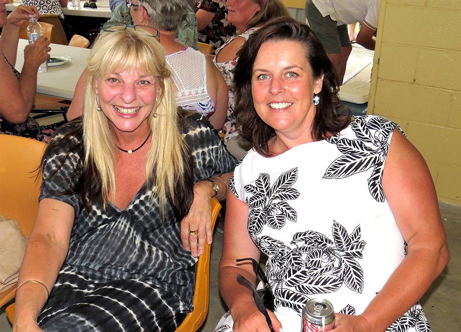 VOLUNTEERS: Karen Shultz and Angela Haynes.