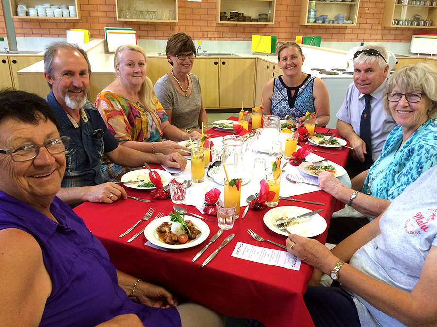 Some of the Irrawang volunteers who were treated to a three course luncheon