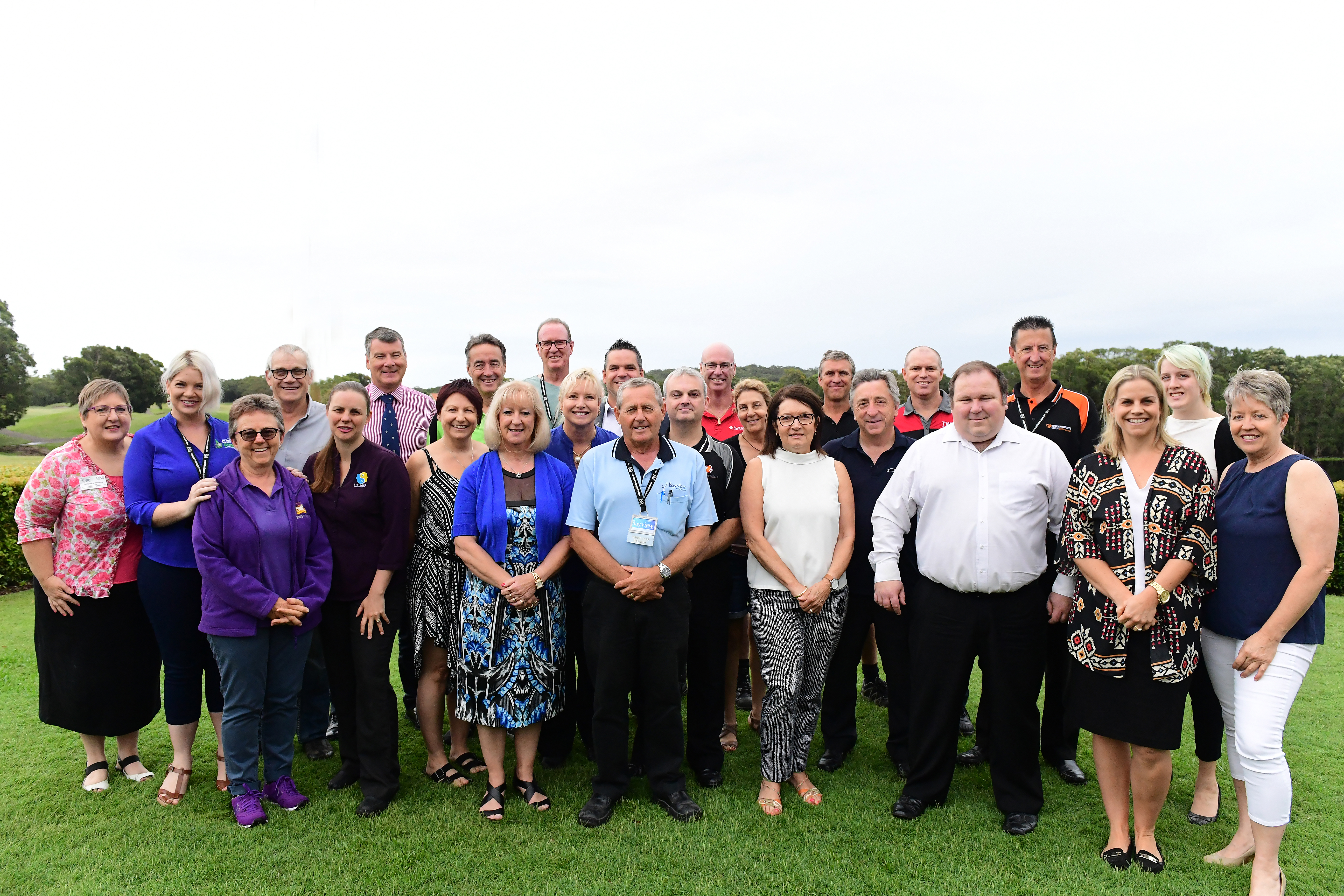 BNI HORIZONS Port Stephens business owners gather on the lawn after Tuesday's breakfast. Photo by Geoff Clark at Capture Imaging