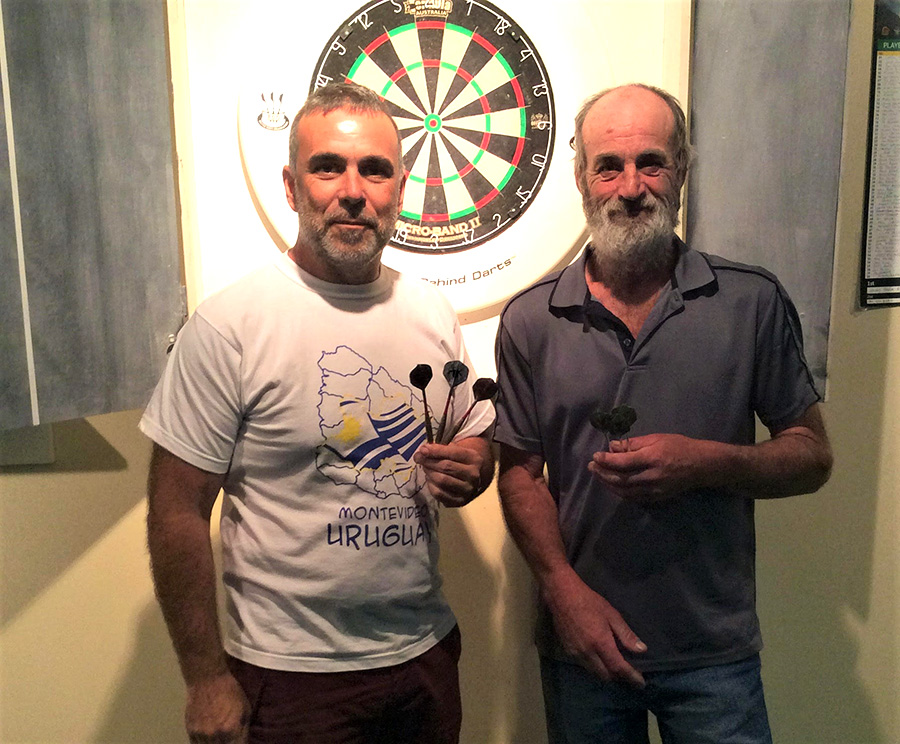 Social Darts Winners for the first day of summer: Carlos Hernando and Robert Bartlett.