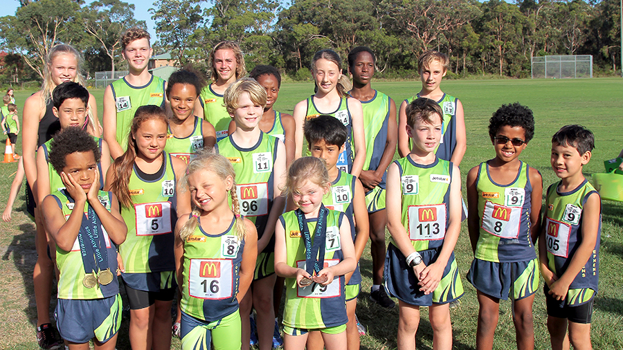 The outstanding young Port Stephens athletes who achieved amazing results at the Zone Championships. Photo supplied by Brett Wallace