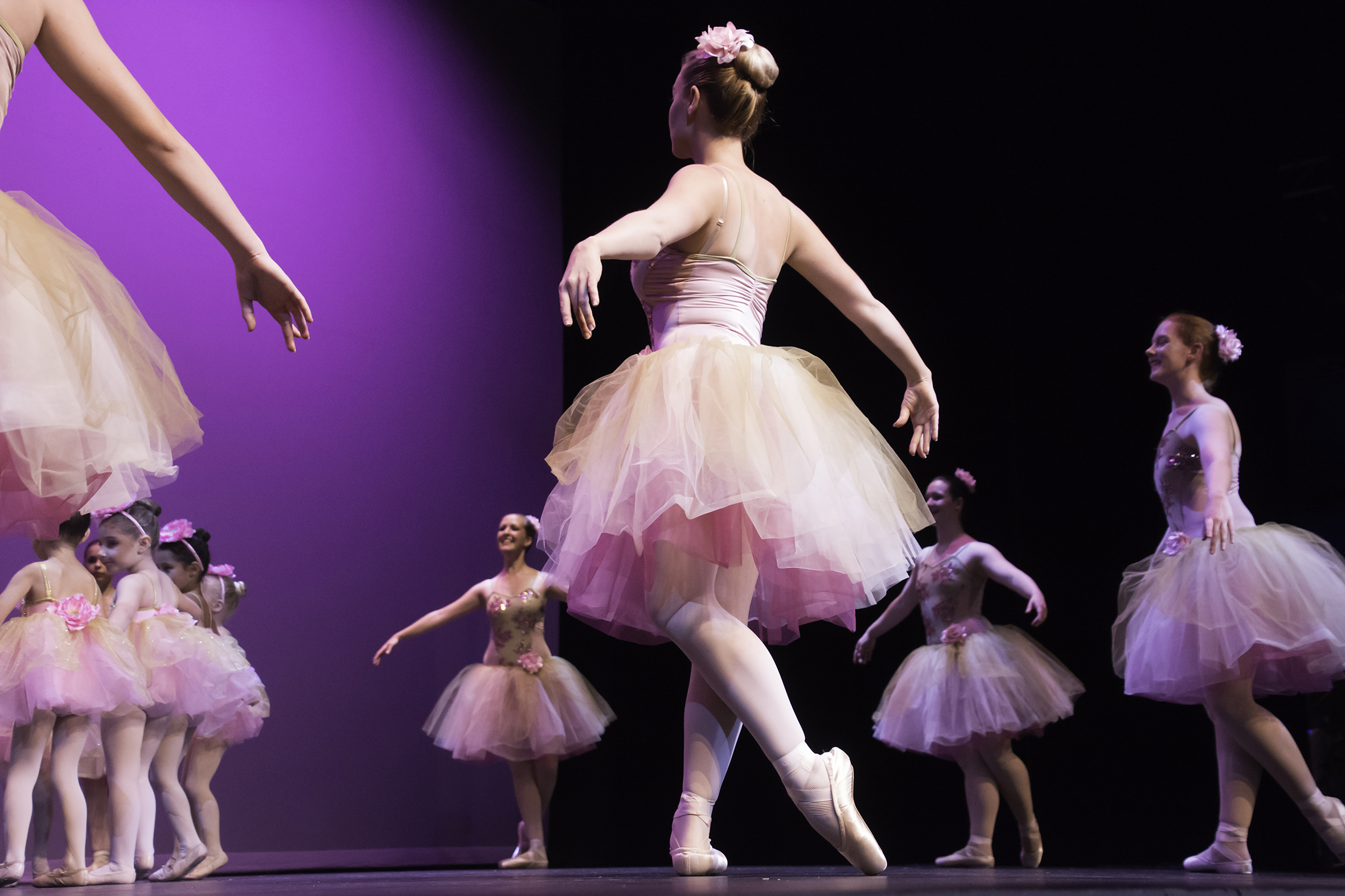 Senior and Junior classical ballet performance – Waltz of the Flowers