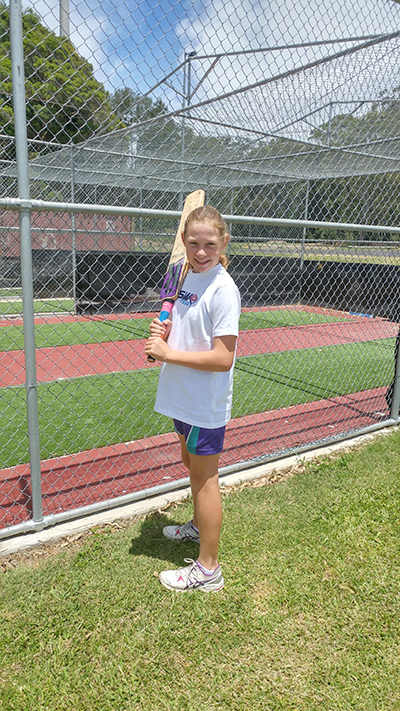 Eleven-year-old Ashlie Stapleton has a love for the game.