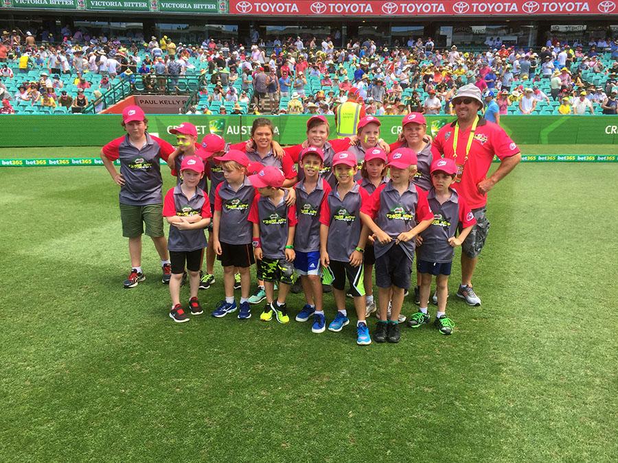 The Milo T20 Blast Team at the Sydney Cricket Ground.