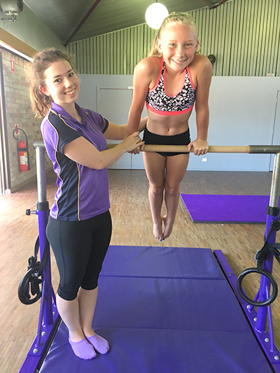 Owner Samantha Nicholls and gymnast Zoe Thomas.