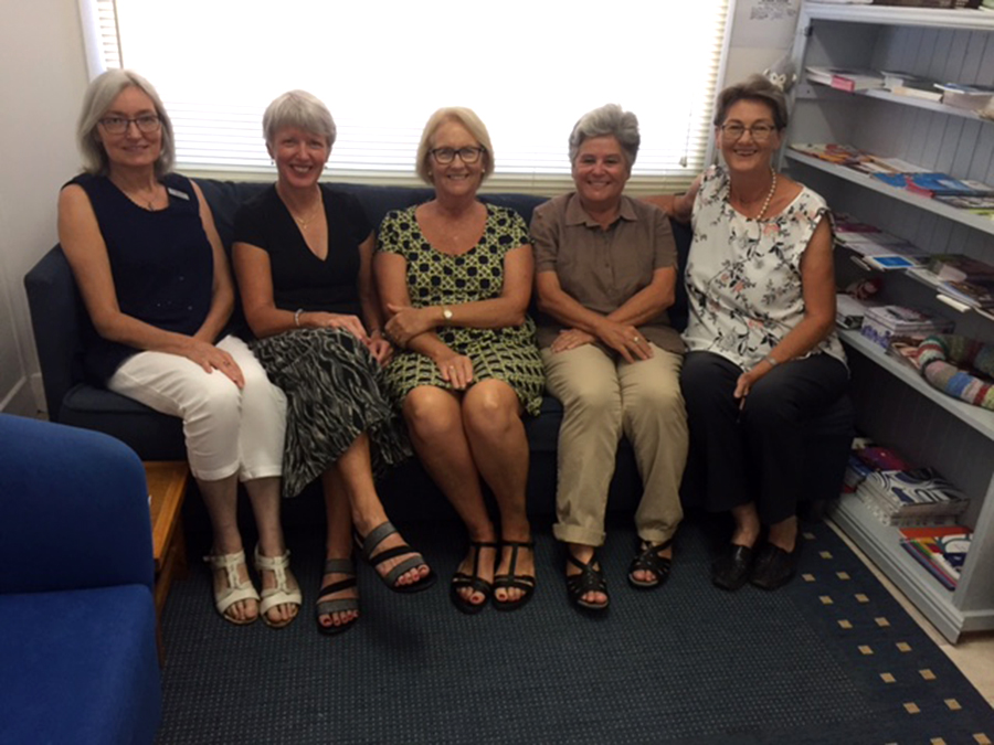 Trish Burgess, Gill Fletcher, Lynn Vatner, Sandy Tawa and Sue Ware.