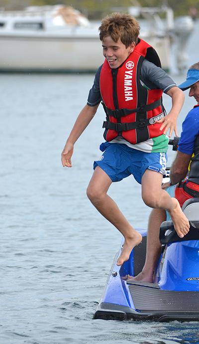 JET SKI ADVENTURE: Chad Cumbers, aged 10.