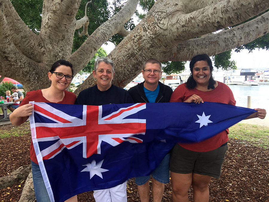 Sally-Anne Bowen, Sharon Bowen, Ross Bowen and Christine Major think Australia is the best country in the world.