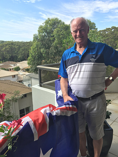 Ralph Carstairs is looking forward to celebrating Australia Day in the Bay
