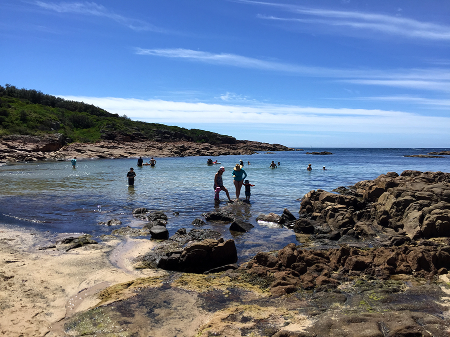 Fishermans Bay is great for families with young children.