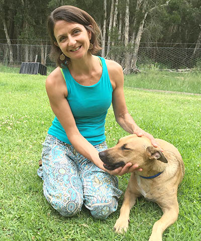 Nikki Shilling with rescue dog Myah.