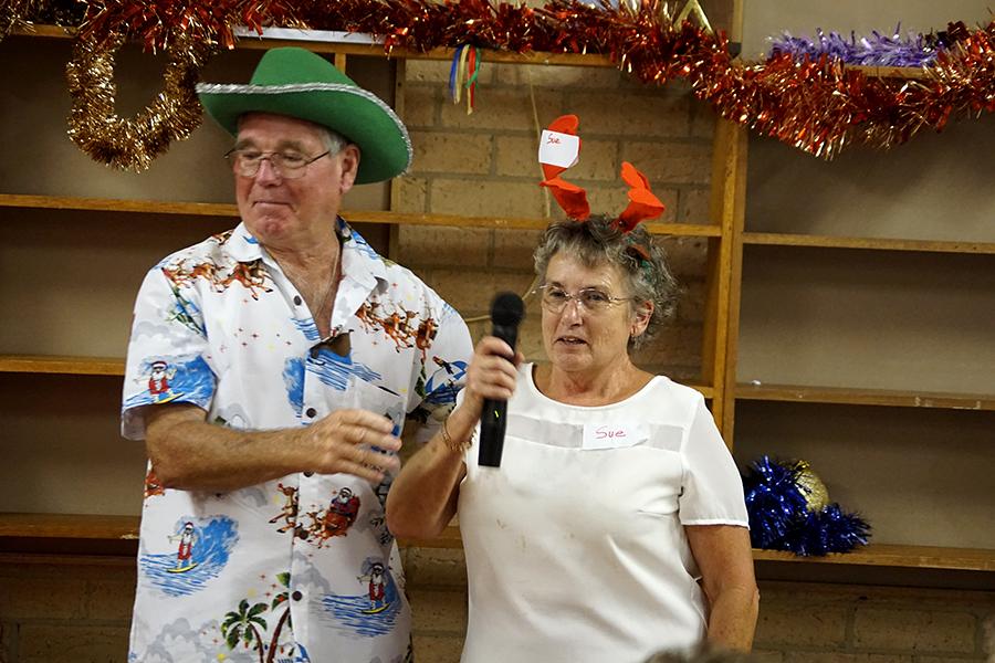 LUNCH ORGANISERS: Joe and Sue Douglas.