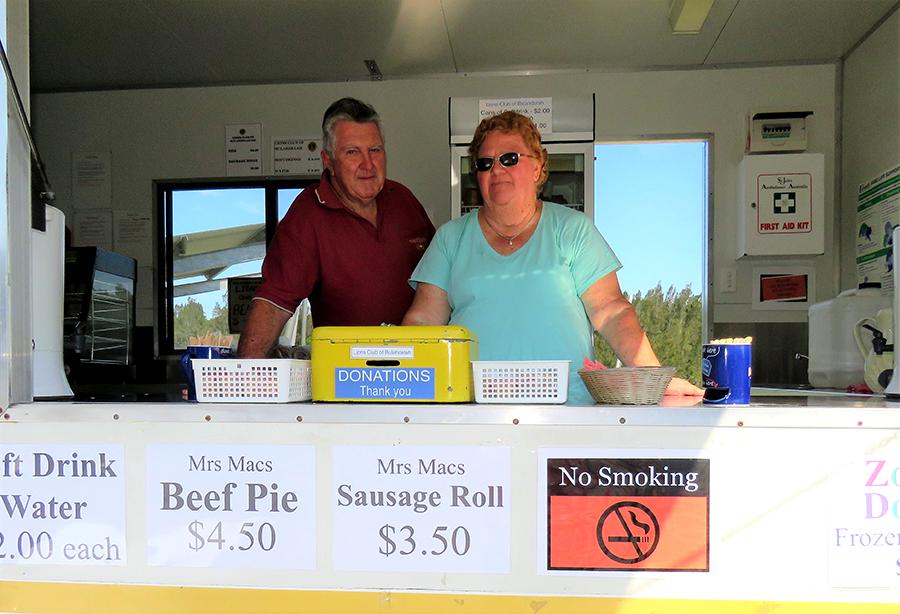 DRIVER REVIVER: Bulahdelah Lions Club members Phil and Pam Gardener.
