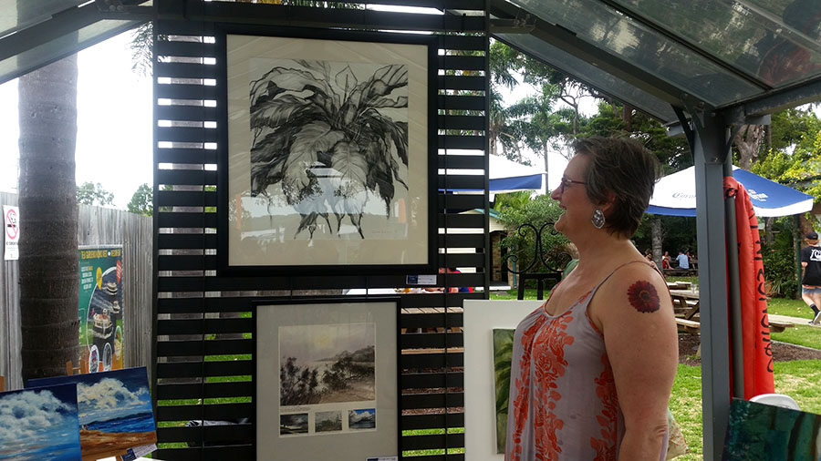 Galleries in the Gardens visitor Fiona King.