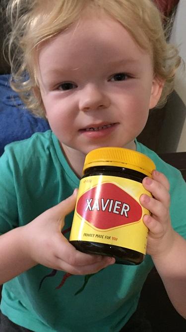 """It puts a rose in every cheek"" Xavier Vaughan loves his vegemite."