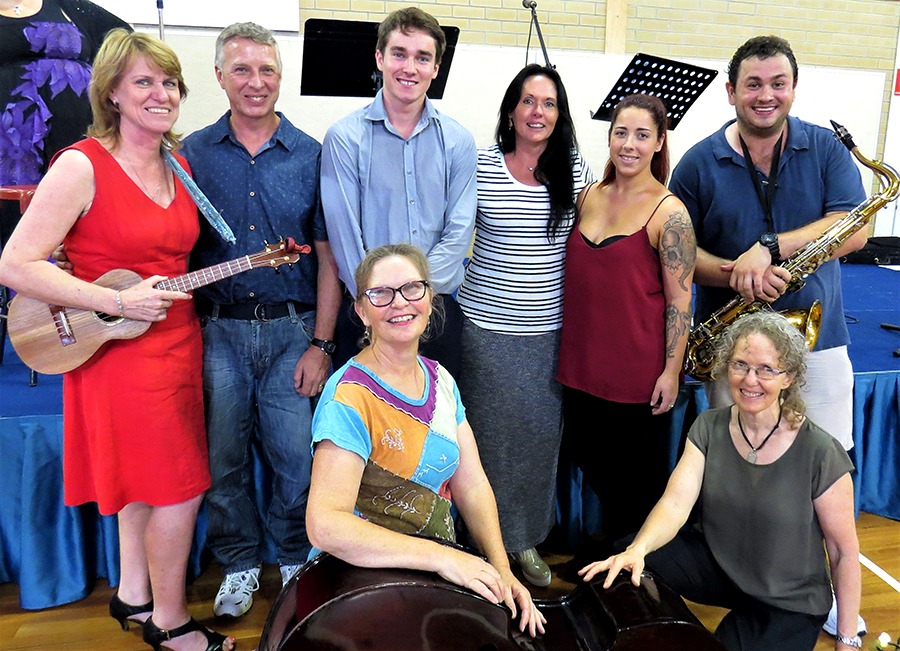PERFORMERS: Kathy Aquilina, Ken Smith, Walter Prowse, Kim Smith, Rhianna Campbell, Tim Cooper, Louise Young and Nikki Legge.