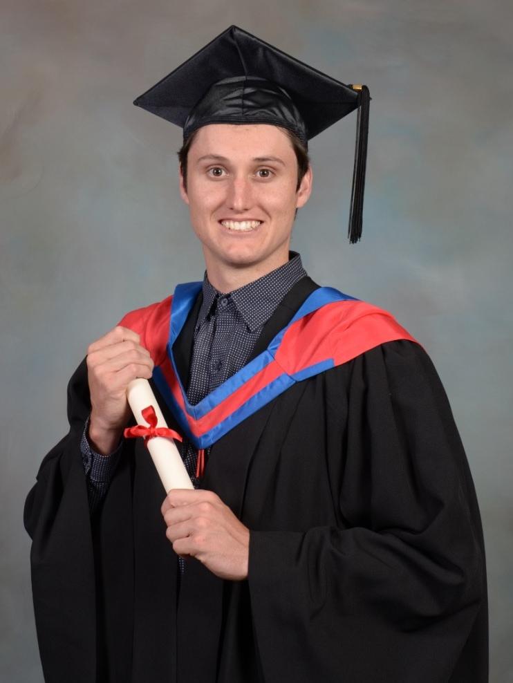 GRADUATE: Mitchell Markham graduates from Charles Sturt University.