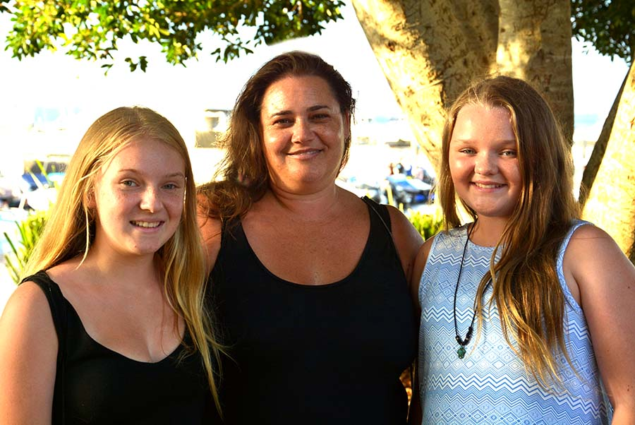 Abby, Jennie and Olivia Newcombe.  Supplied by Square Shoe Photography