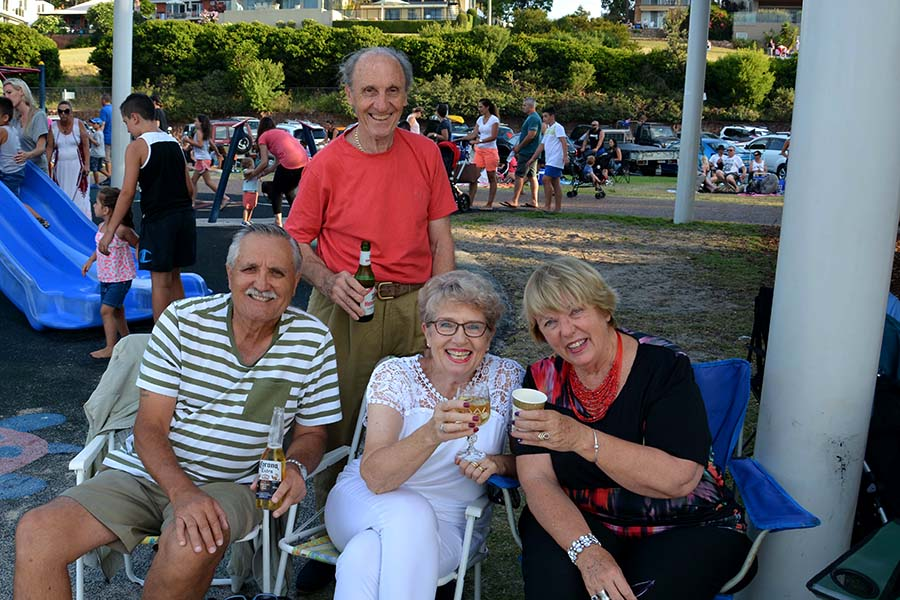 George Anderson, Gerhard Ullmann, Helen Anderson of Salamander Bay, Anne Ullmann of Nelson Bay.  Supplied by Square Shoe Photography