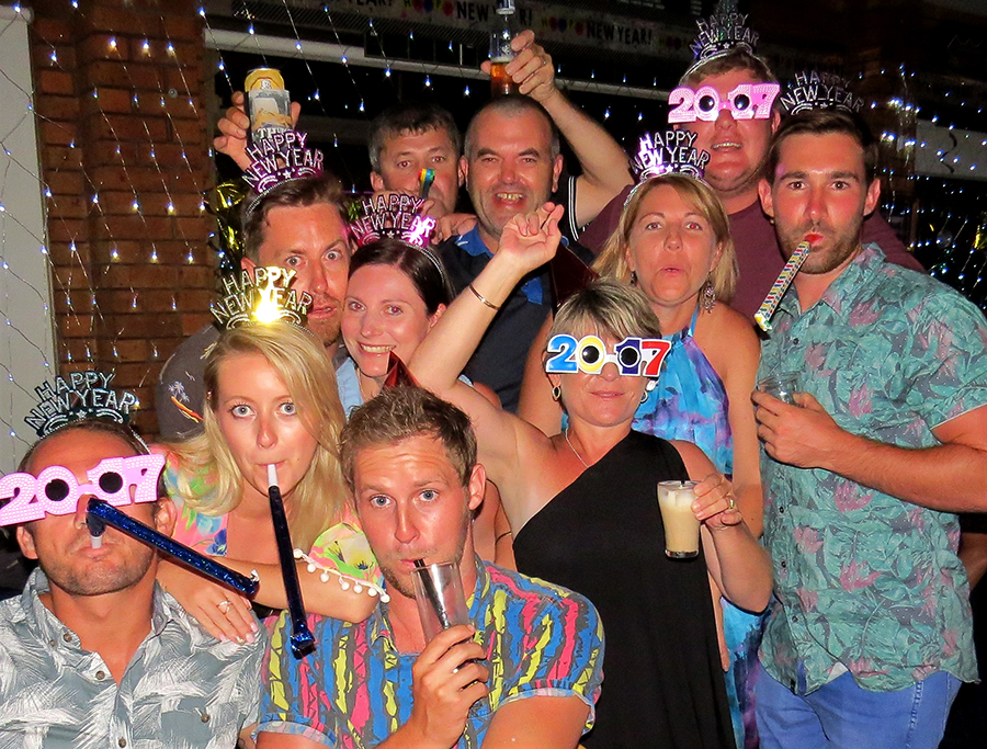 NEW YEAR CELEBRATION: A lively crowd of revellers welcomed the New Year at Bulahdelah Bowling Club.