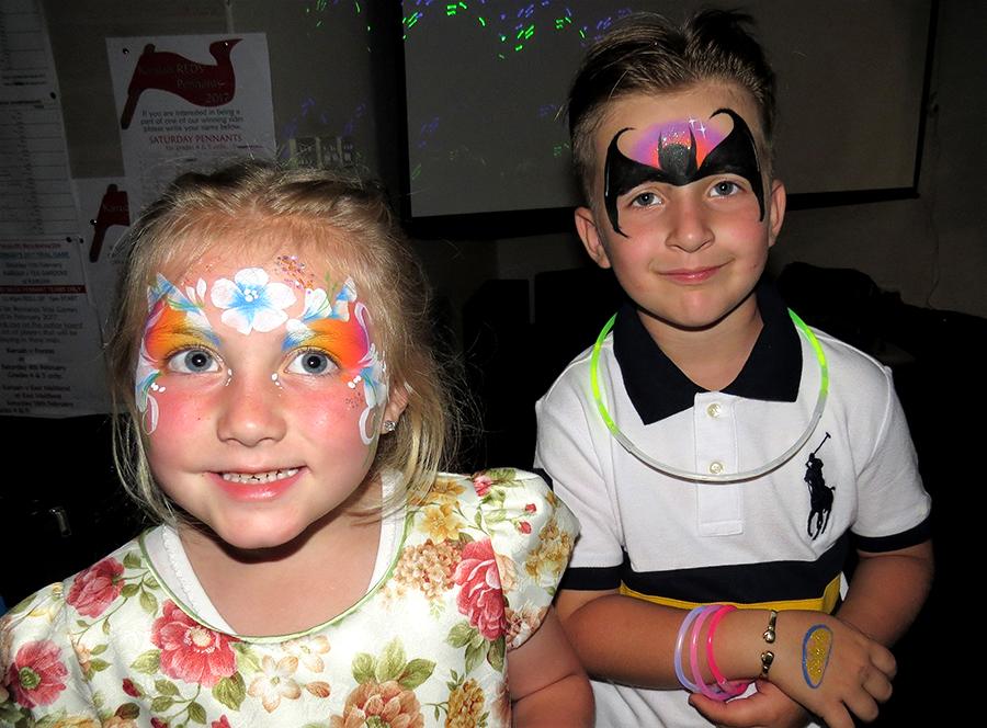 HAPPY NEW YEAR: Ruby Ann and Alexander Stewart celebrate at Karuah RSL Club.