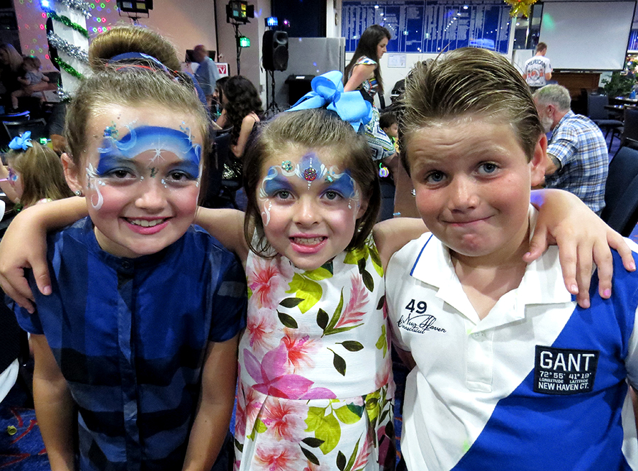 FAMILY FUN: Margaret and Jacqueline Stewart with Riley Devine at Karuah RSL Club.