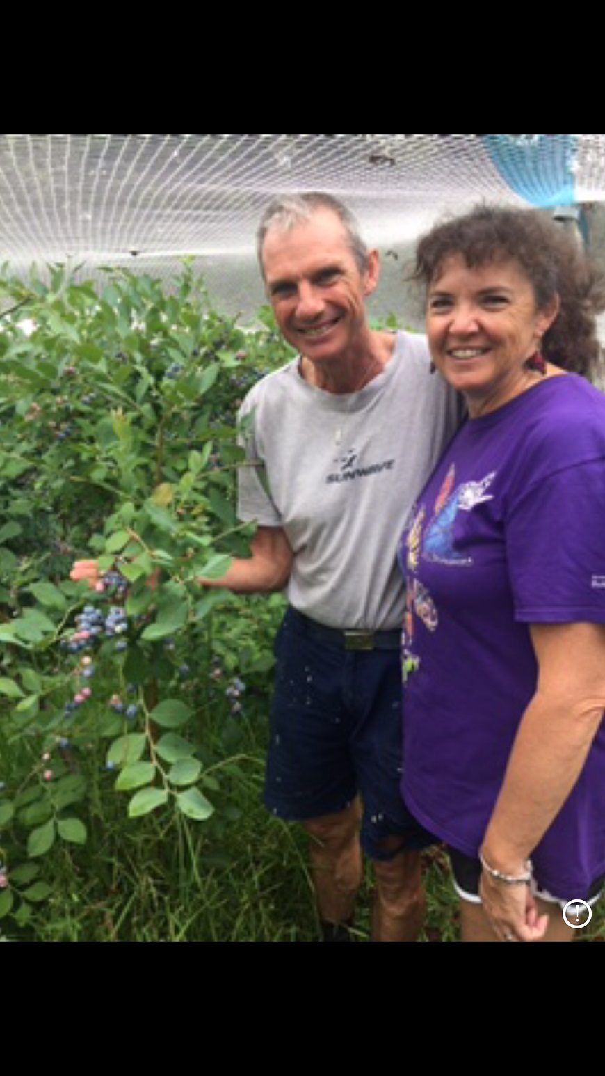 David and Tracey Pass, owners of Bobs Farm Berries.