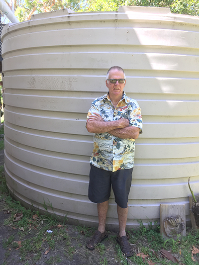 Peter Trappel will continue using his own tank water.