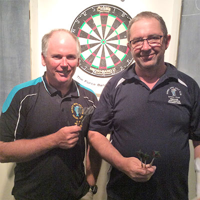 Darren Rapley and Trevor Peirson - Mixed Doubles Winners.