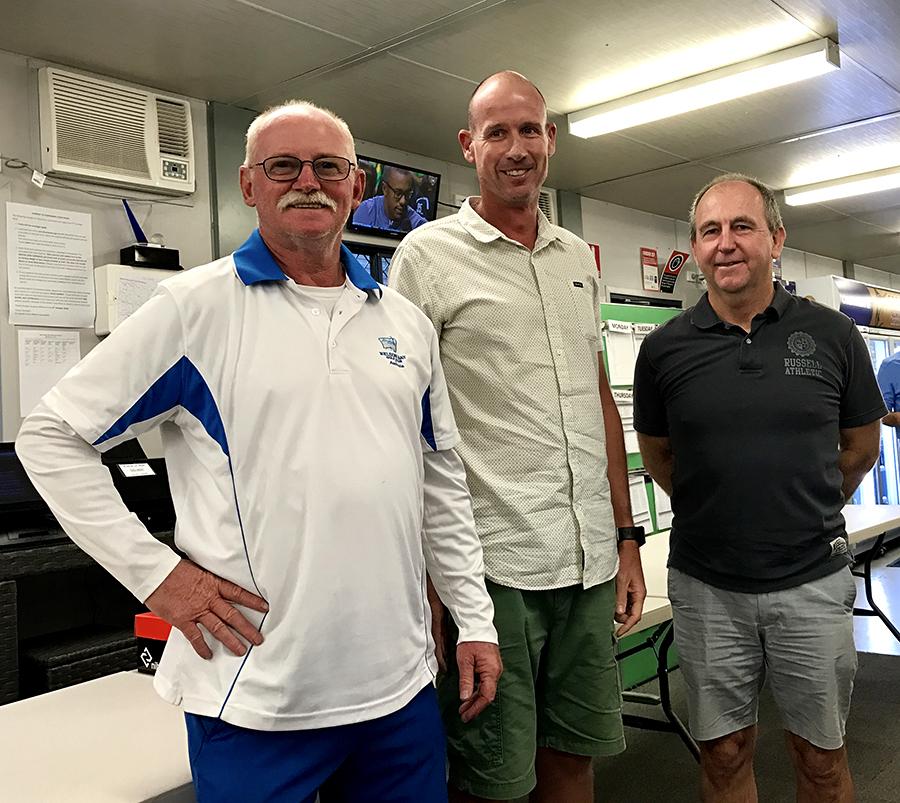 Men's Club Champions for 2016: Eric Kidd (B Grade), Peter Gibson (A Grade) and Sam Cockburn (C Grade).