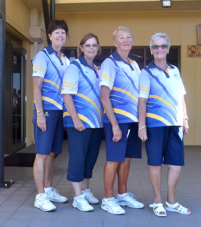 Winners of the Club Championship Fours: Karen Green, Kayelene Pearson, Dale Winter and Lily Smith.