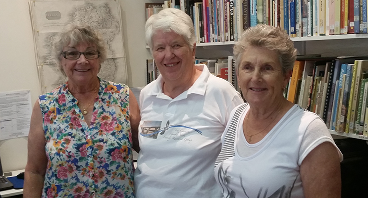 FOUNDATION MEMBERS: Vice President Lesley Turner, Librarian Shirley Cox and Margaret Munright.