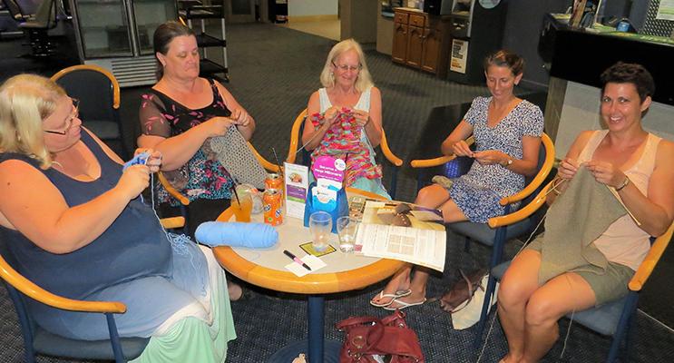 Nanna Night: Rachael Terry, Karen Flemming, Ruth Butler, Ren Sullivan and Rachel Reitsma.