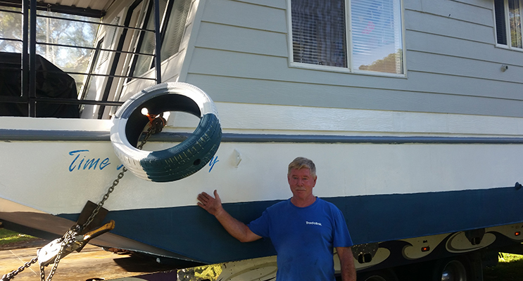 HOUSEBOAT TALE: 'Time and Money' owner Robert Brown.
