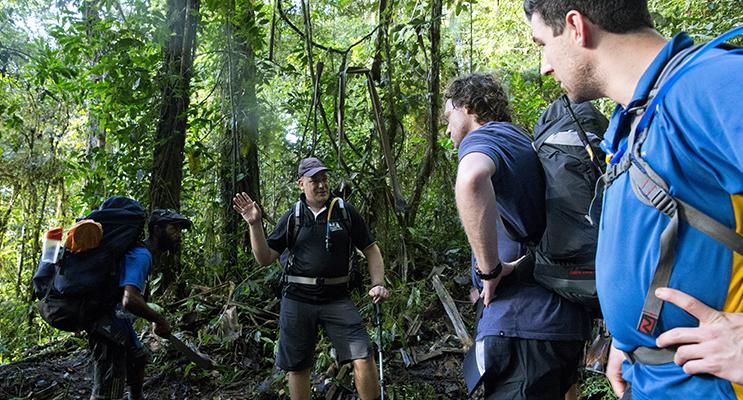 Goodwin leading a recent trek on the Kokoda Track.          Photo supplied