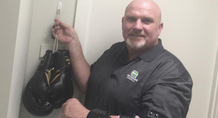 Port Stephens Deputy Mayor, Chris Doohan hangs up boxing gloves