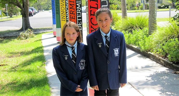 : BCS Term One Captains Polly Sullivan and Maddi Tassell.