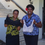 Anita Marshall, Salamander Bay, organises bras for Vanuatu