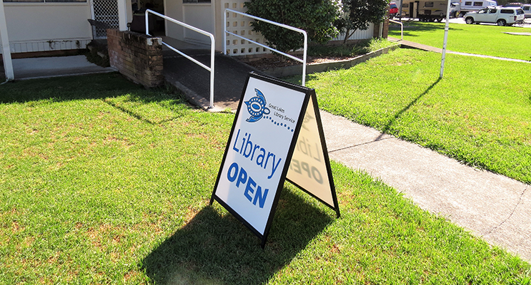 Bulahdelah Library is located in the CWA Building in Wade Park.